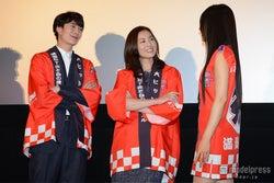 (左より)岡田将生、瀬戸朝香、芦名星