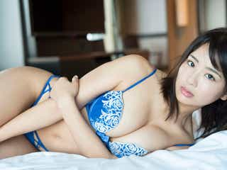平嶋夏海、Fカップ美バストで悩殺 もっちりヒップも披露
