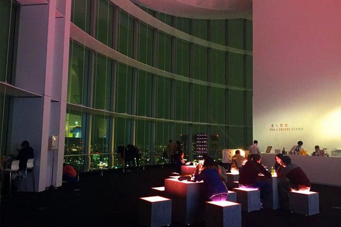 夜の展望台の様子/画像提供:森ビル
