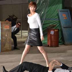 アクションシーンを披露する篠田麻里子