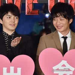 (左から)林遣都、田中圭 (C)モデルプレス