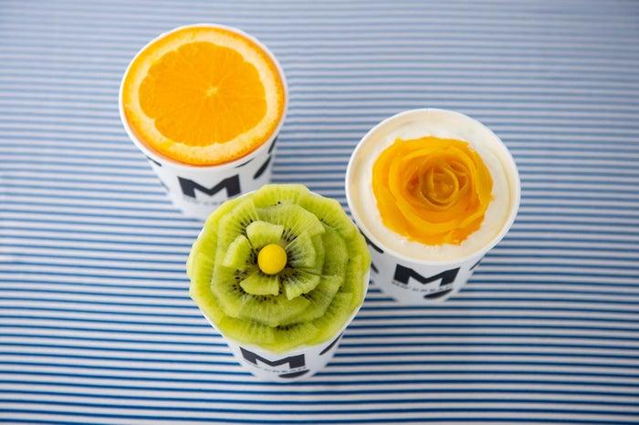 フルーツアレンジでお花風に