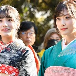 (左から)大園桃子、山下美月(C)モデルプレス