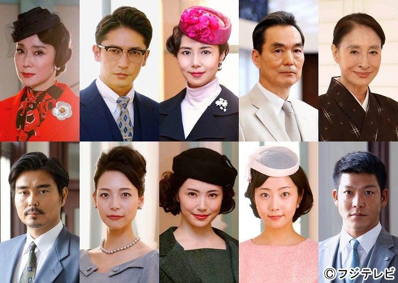 上段左から)浅野ゆう子、玉木宏、松嶋菜々子、長塚京