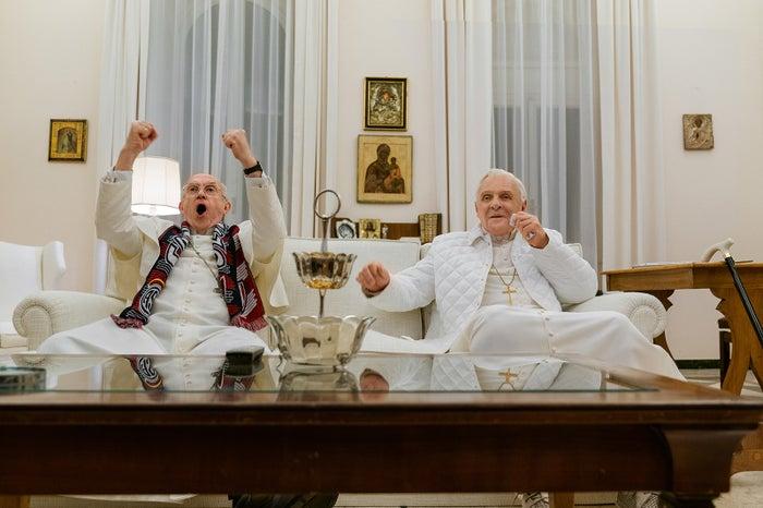 ジョナサン・プライス、アンソニー・ホプキンス/Netflix映画『2人のローマ教皇』独占配信中