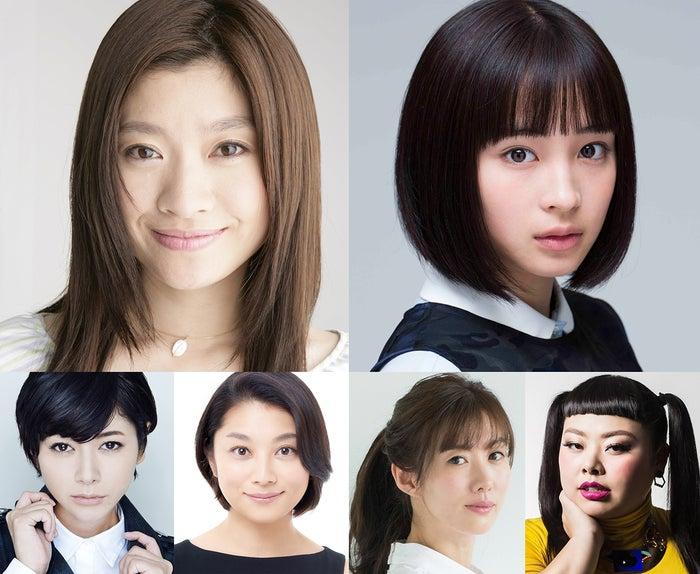 (左上から時計回りに)篠原涼子、広瀬すず、渡辺直美、ともさかりえ、小池栄子、真木よう子(提供写真)