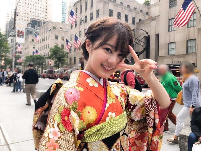 乃木坂46・生田絵梨花の振袖姿公開、アメリカ・ニューヨークの五番街で撮影(提供写真)