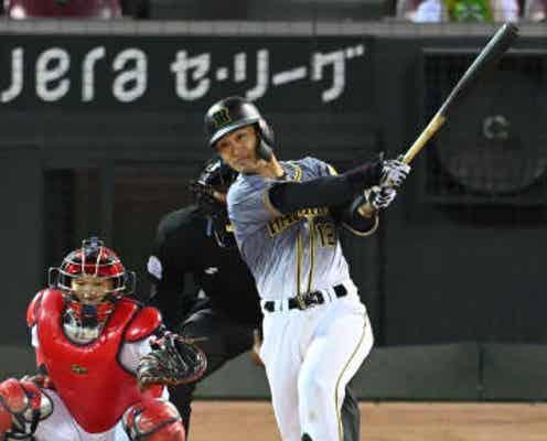 阪神・坂本が執念同点打 七回2死無走者からロハス出塁、佐藤輝がつなぐ