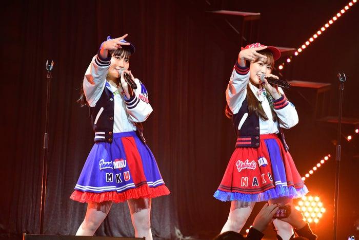 田中美久、矢吹奈子「HKT48コンサート in 東京ドームシティホール~今こそ団結!ガンガン行くぜ8年目!~」(C)AKS