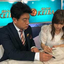 佐野瑞樹アナウンサーと堤礼実アナウンサー(提供写真)