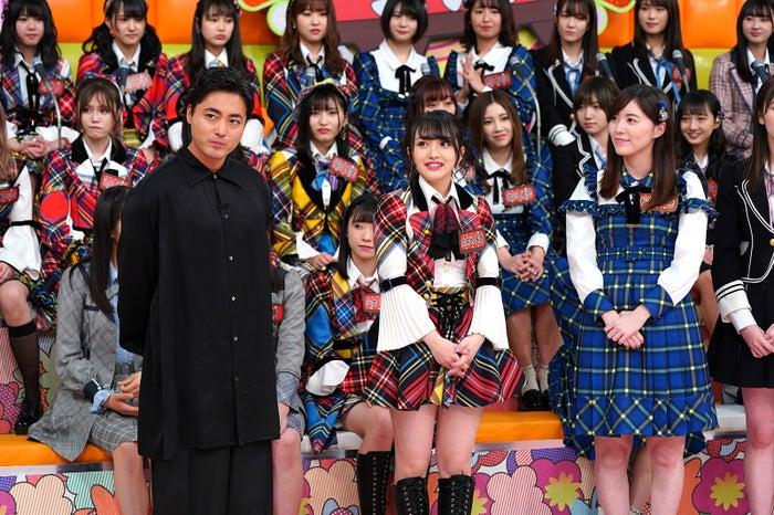 山田孝之、向井地美音、松井珠理奈 (C)日本テレビ