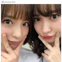 """篠田麻里子&小嶋陽菜、""""にゃんまり""""久々2ショットにファン歓喜「待ってた!」「可愛すぎか」"""