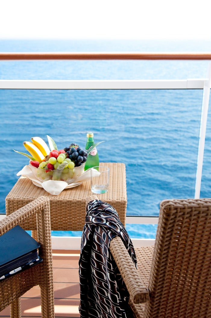 部屋の外のバルコニーで、オーシャンビューを独り占め!/MSC Cruises S.A.