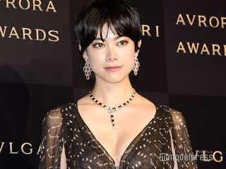 森星、胸元ざっくりシースルードレスで魅了<BVLGARI AVRORA AWARDS 2019>