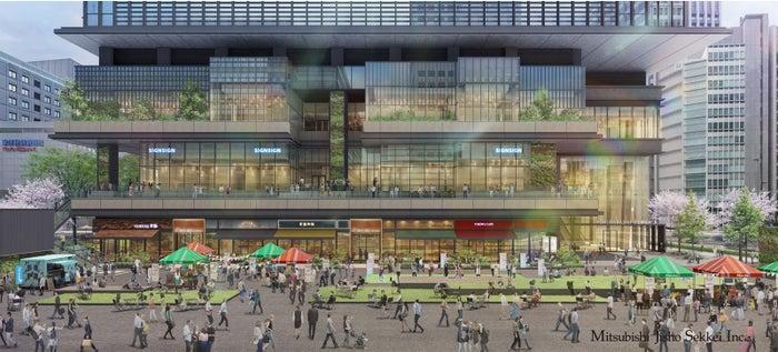 「TOKYO TORCH Park」(手前)と「TOKYO TORCH Terrace」(奥)/画像提供:三菱地所
