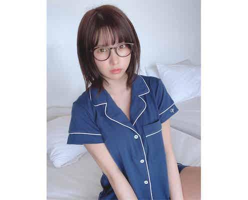 日本一のコスプレイヤー・えなこ、彼女感あふれるメガネ×パジャマ姿に「可愛くてメロメロ」