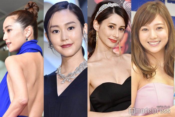 (左から)中村アン、桐谷美玲、ダレノガレ明美、伊藤千晃(C)ビューティーガール
