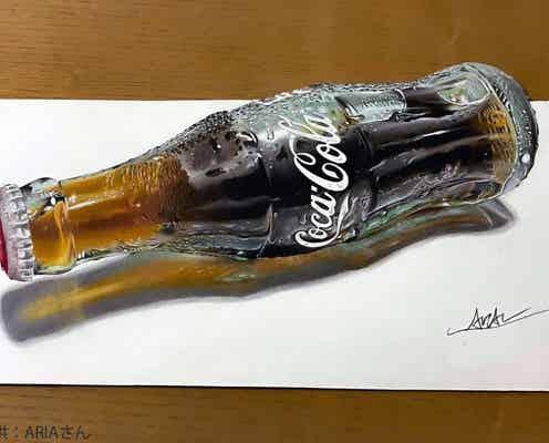 コカ・コーラの立体絵がまるで本物 「書き方をネットや動画で学んだ」