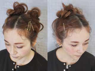 おうちリラックスヘアはメッシーバンが可愛い…!ピンで差をつけるお団子ヘアアレンジ