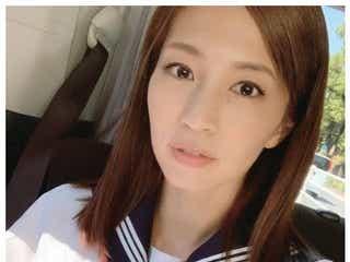 安田美沙子、セーラー服姿に反響「全く違和感ない」「似合ってる」