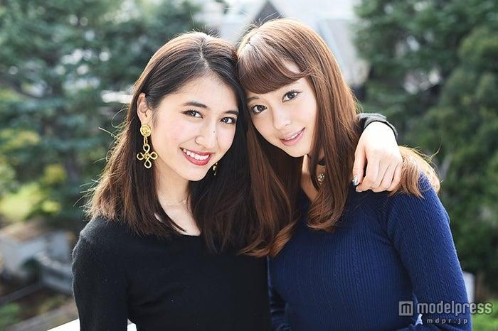 「JJ」モデルとして活動の本音を語った(左より)有末麻祐子、大川藍【モデルプレス】