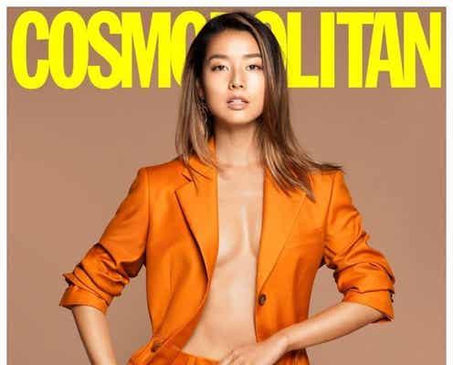すみれ、裸にジャケットで美バスト披露 「コスモポリタン」表紙に反響