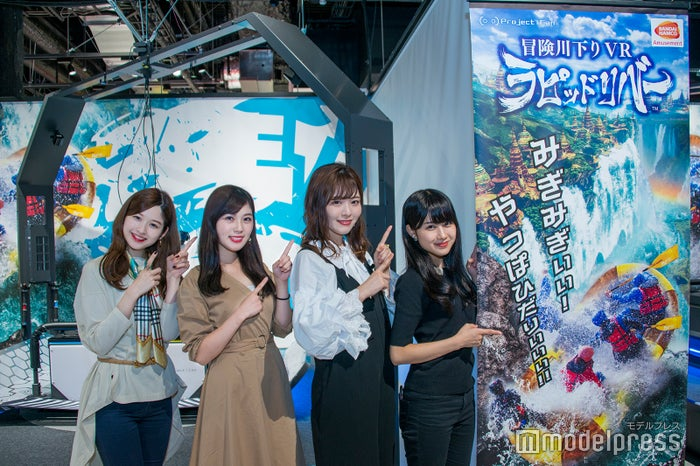 (左から)遠藤さん、飯山さん、小林さん、神崎さん(C)モデルプレス