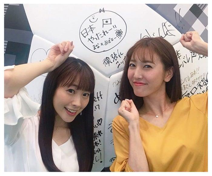 三上真奈アナ、小澤陽子アナも応援(提供画像)