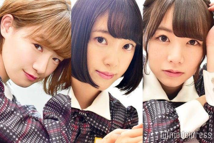 モデルプレスのインタビューに応じた(左から)中田花奈、堀未央奈、北野日奈子(C)モデルプレス