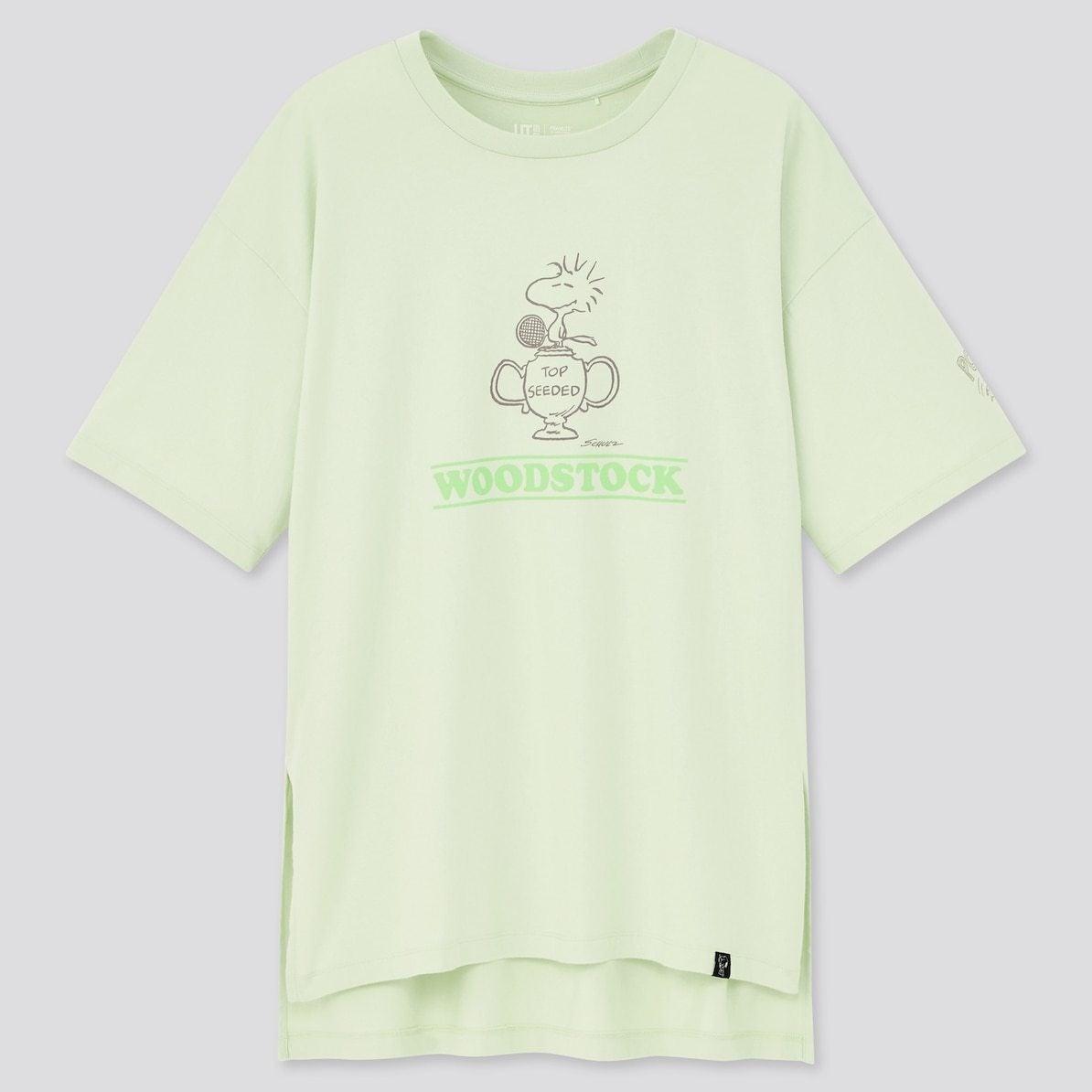 ユニクロ UNIQLO UT Tシャツ ユーティー スヌーピー ピーナッツ SNOOPY PEANUTS ヴィンテージ VINTAGE コラボ 新作 トップス おすすめ レディース 女性 グリーン ウッドストック WOODSTOCK グリーン