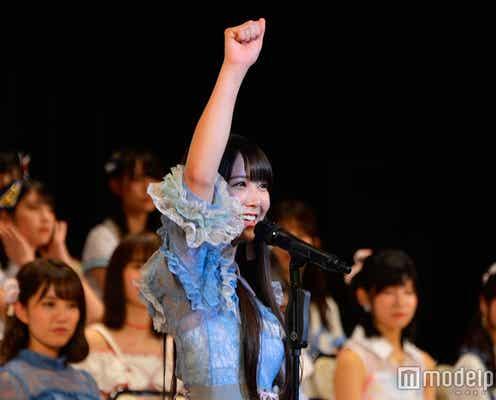 """白間美瑠、NMB48の""""てっぺん""""獲った!笑顔で初選抜<第9回AKB48選抜総選挙>"""