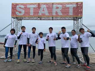 宮川大輔・みやぞんらイッテQメンバー&子どもたち、4.2kmの遠泳スタート サプライズも<24時間テレビ42>