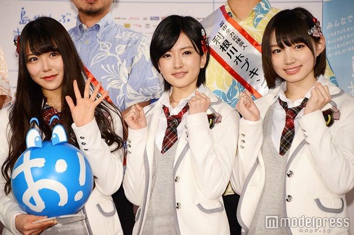 (左より)白間美瑠、須藤凜々花、太田夢莉(C)モデルプレス