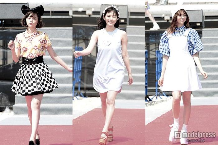 「ちゅらイイGIRLS UP!ステージ」に登場/左より:玉城ティナ、筧美和子、八木アリサ【モデルプレス】