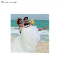 近藤千尋、ジャンポケ太田とハワイで挙式「とにかく幸せです」