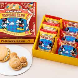 ミッキーマウス/パンケーキサンド「見ぃつけたっ」12枚入 1,080円、24枚入2,160円(C)Disney