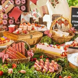 ストロベリーブッフェ「ストロベリーピクニック」苺満載のスイーツ&イタリアン60種超ずらり