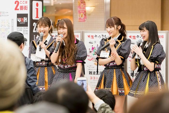 渋谷凪咲、白間美瑠、川上礼奈、安田桃寧(C)NMB48