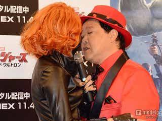 ざわちん、ダチョウ倶楽部・上島と公開キス「肌触りが良かった」