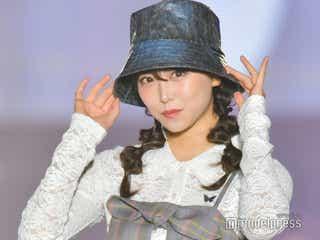 NMB48卒業発表の白間美瑠、ミニワンピで美脚チラリ<関コレ2021S/S>