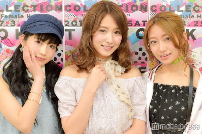 モデルプレスのインタビューに応じた若月佑美、衛藤美彩、桜井玲香(C)モデルプレス