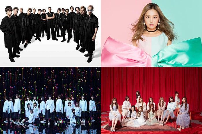 EXILE、西野カナ、欅坂46、IZ*ON...
