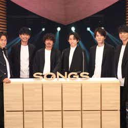 V6(左から)岡田准一、坂本昌行、森田剛、三宅健、長野博、井ノ原快彦(C)NHK
