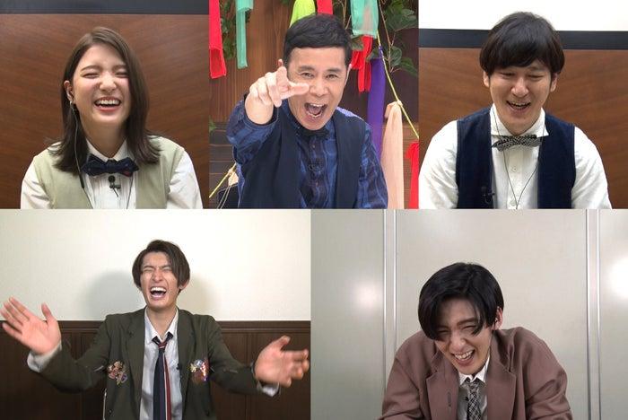 (上段左から)川島海荷、岡村隆史、田中直樹(下段左から)向井康二、目黒蓮(C)TBS