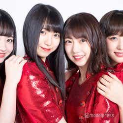 (左から)江籠裕奈、菅原茉椰、熊崎晴香、鎌田菜月 (C)モデルプレス