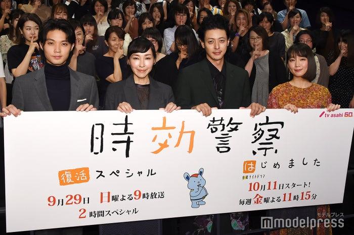 (左から)磯村勇斗、麻生久美子、オダギリジョー、吉岡里帆 (C)モデルプレス