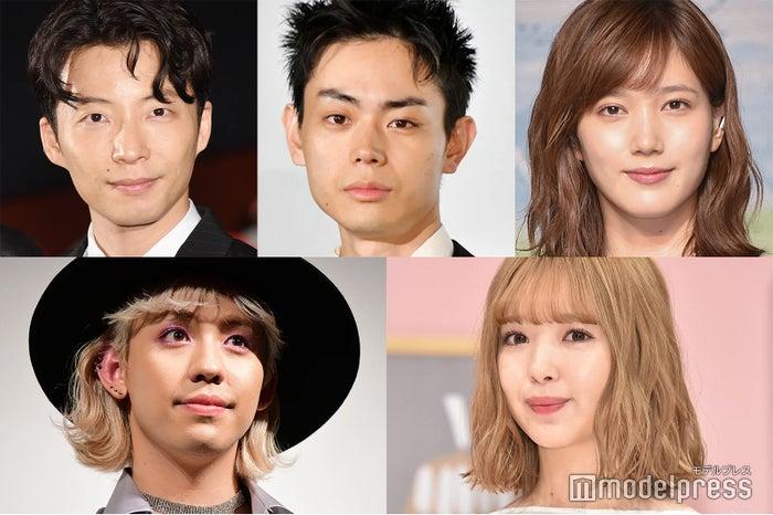 (左上から時計回り)星野源、菅田将暉、本田翼、藤田ニコル、りゅうちぇる(C)モデルプレス