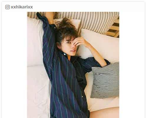 """森星、Yシャツ×ショーツ姿の""""最強SEXYコーデ""""披露にファン興奮「たまらない」"""