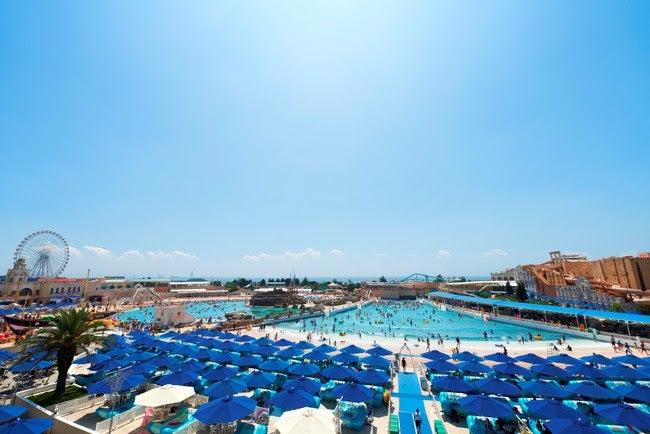 ジョイアマーレの浜辺/画像提供:ラグーナテンボス