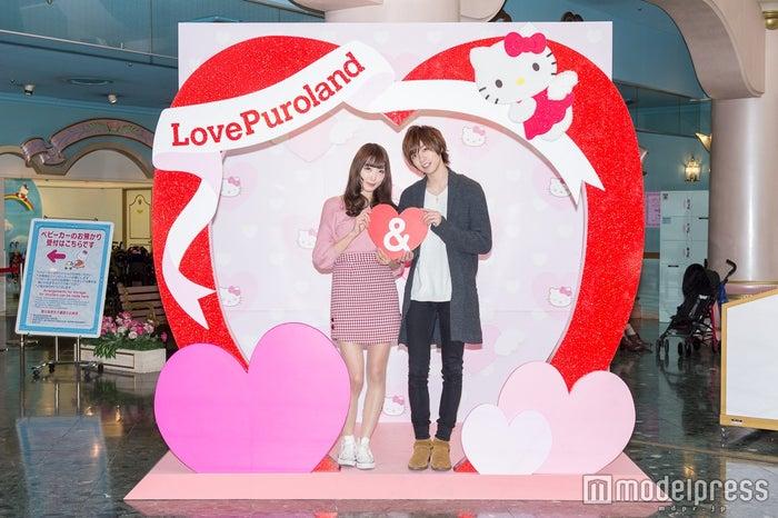 Loveフォトスポット/モデル:かえで、笹森裕貴(C)モデルプレス
